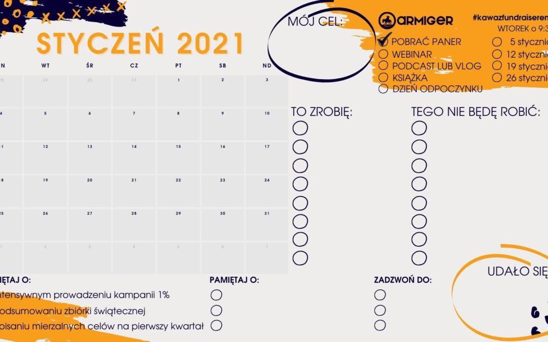 Planer Fundraisera – Styczeń 2021