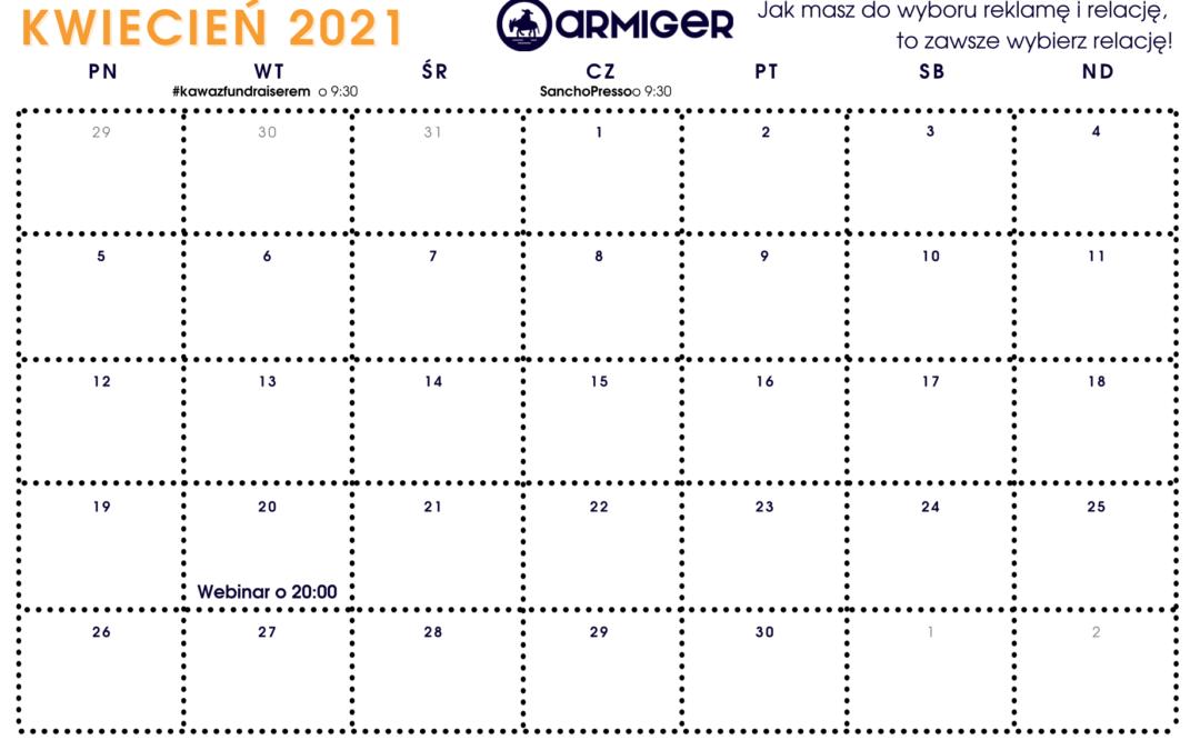 Planer Fundraisera – kwiecień 2021